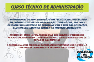 Venha conferir o curso técnico de Administração do Colégio de Itajubá! Se profissionalize e saiba administrar diversas áreas de uma empresa.