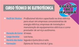 O técnico em Eletrotécnica é um profissional muito valorizado no mercado de trabalho. Em apenas 1,5 ano você sai com este diploma. Venha para o Colégio de Itajubá.