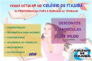 CURSOS TÉCNICOS NO COLÉGIO DE ITAJUBÁ!  NÃO PERCA!!! Venha e se prepare para o mercado de trabalho.