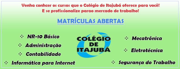 O Colégio de Itajubá te oferece cursos técnicos importantes para o mercado de trabalho!  Venha se profissionalizar!!!!
