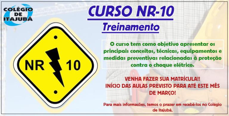 O curso de treinamento NR-10 ainda não começou!  Venha fazer sua matrícula e garanta sua vaga!!  Início previsto para o mês de Março!  MATRÍCULAS ABERTAS, ÚLTIMAS VAGAS!!!!!