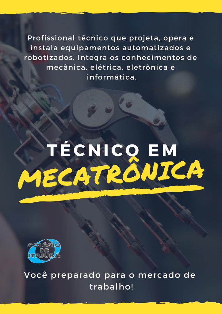 Em breve começa o curso técnico de Mecatrônica!!