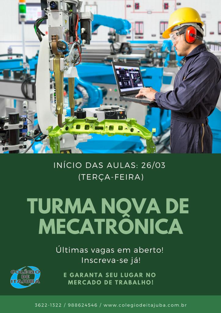 Início das aulas do técnico em Mecatrônica!