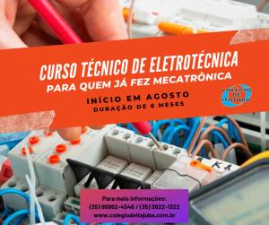 Turma nova de técnico em Eletrotécnica!