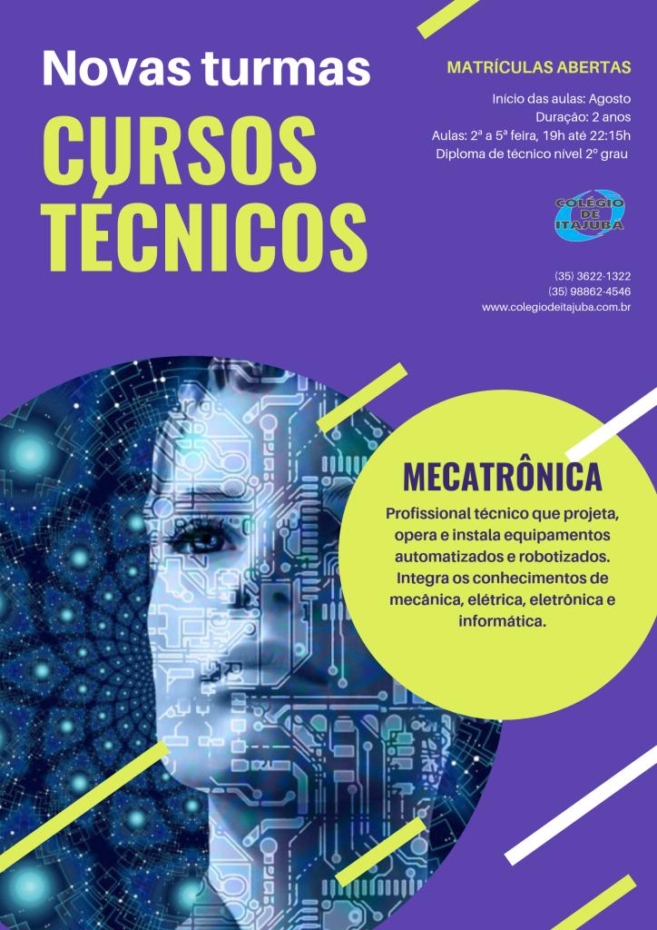 Matrículas abertas para o curso técnico de Mecatrônica!