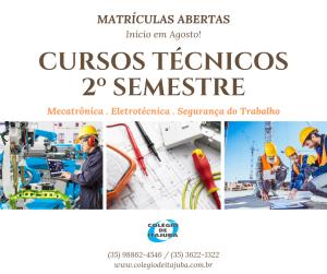 Cursos técnicos segundo semestre de 2019!!!!