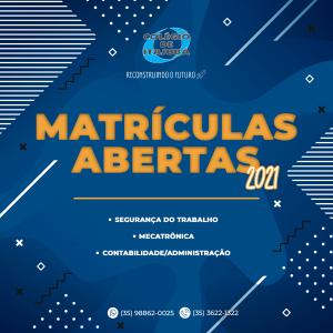 MATRÍCULAS ABERTAS - CURSOS TÉCNICOS 2021 💥