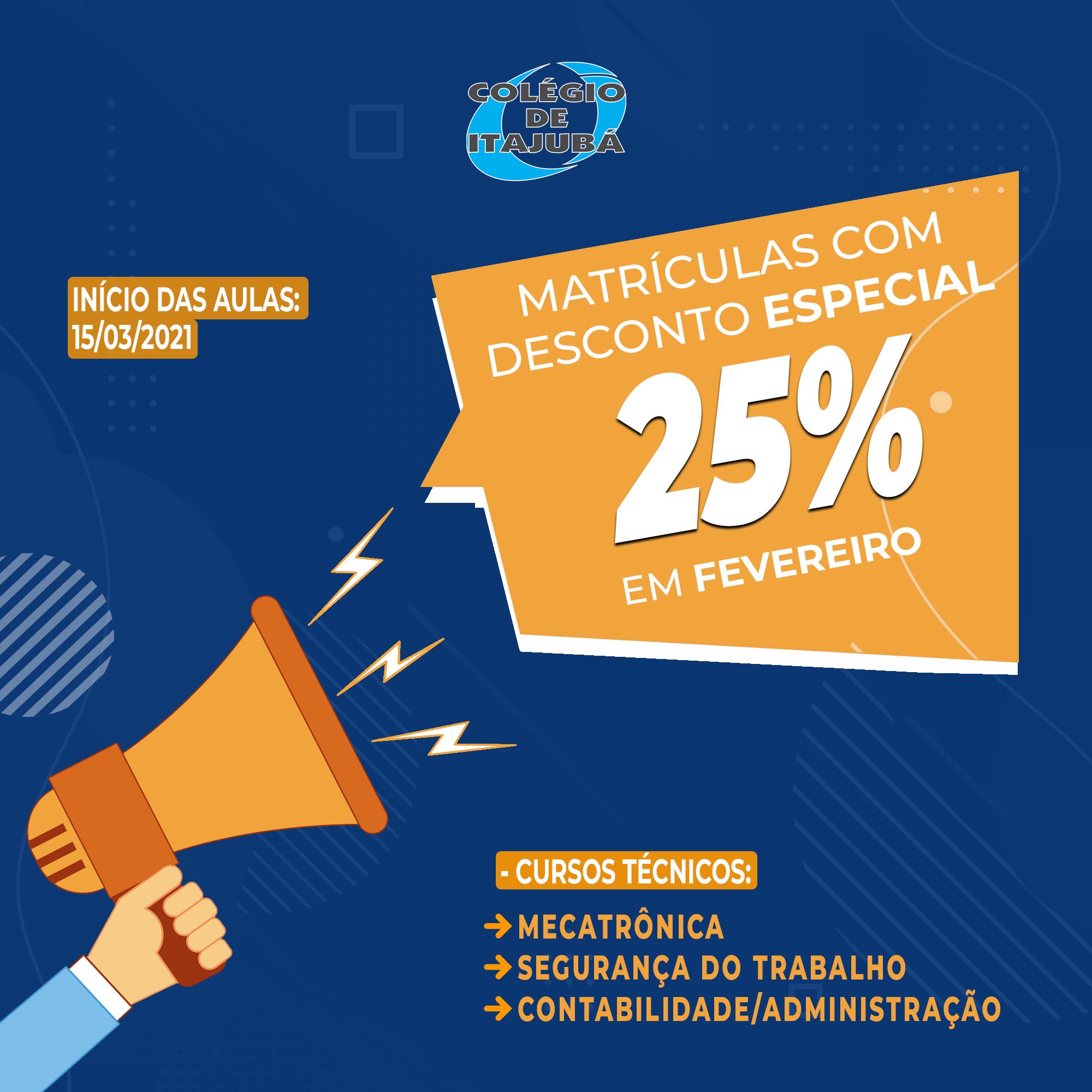 Matrículas abertas: CURSOS TÉCNICOS - Promoção especial!