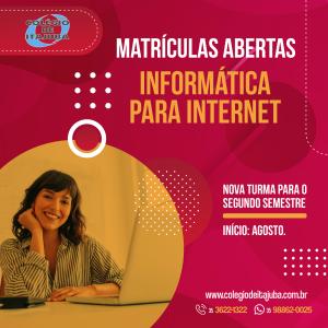 👉🏼 MATRÍCULAS ABERTAS - Informática para Internet