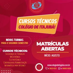 Cursos Técnicos do Colégio de Itajubá!