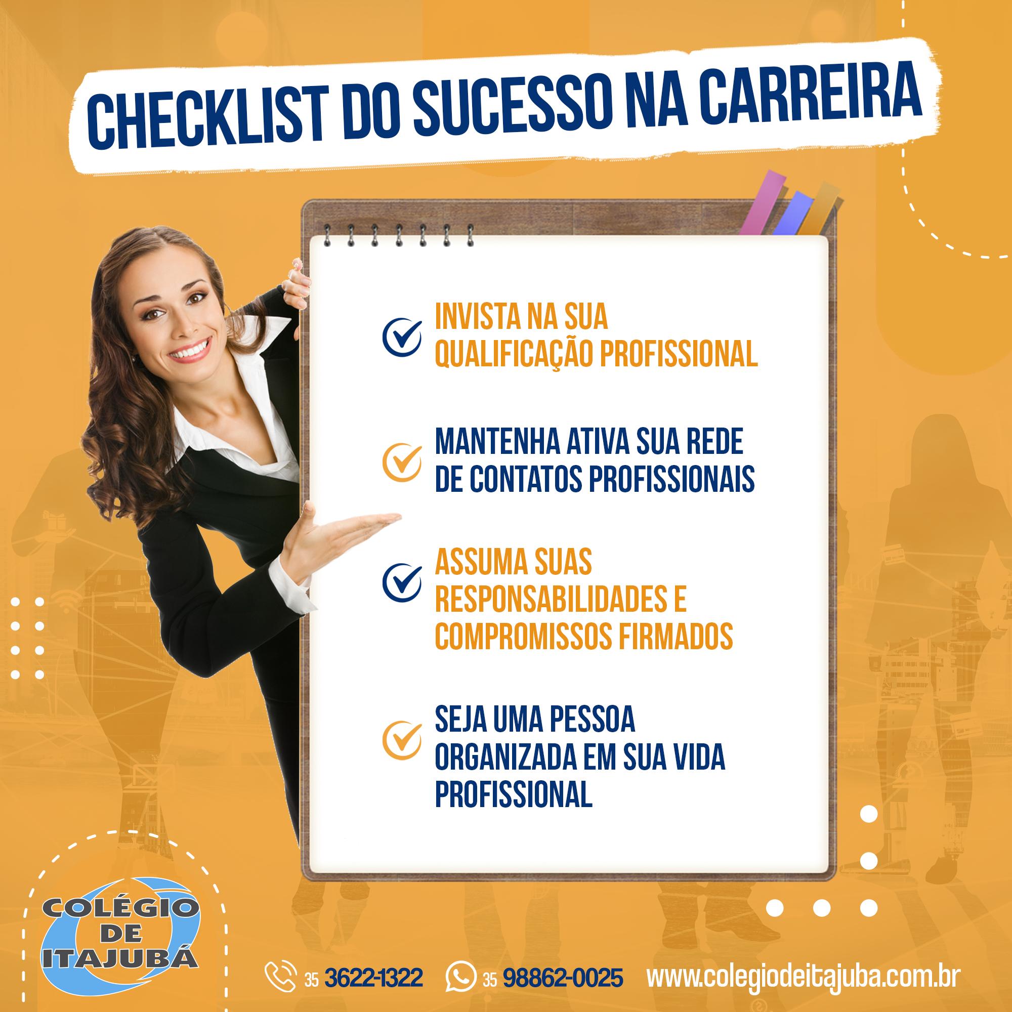 Checklist do sucesso na carreira!